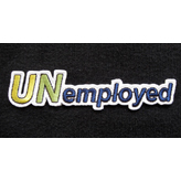 """UNemployed"" iron-on patch"